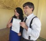 O casamento civil de Ana Carolina Tomé e Regis Vernissage