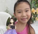 """Ariel é a 2ª ganhadora da promoção do Programa Fannykito """"Ganhe uma Boneca de Bisquit"""