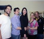 Jantar de confraternização na residencia de Olga e Paulo Santos